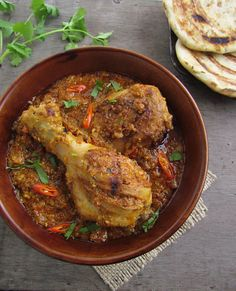 Bhuna Murgh - Slow Cooked Chicken with Spices (substitute goat yogurt)