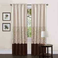 Lush Decor Hester Single Curtain Panel 84Inch by 54Inch Green * For more information, visit image link.