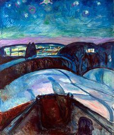 Starry Night (1924) by Edvard Munch