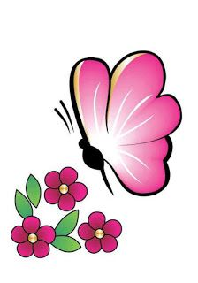 Simple Flower Drawing, Butterfly Drawing, Butterfly Painting, Easy Drawings For Kids, Drawing For Kids, Flower Images, Flower Art, Full Sleeve Tattoo Design, Fabric Paint Designs