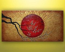 Asian wall decor ideas decoration art and abstract painting large zoom oriental metal style decorating with plants indoors Abstract Painting Techniques, 3d Painting, Large Painting, Texture Painting, Art Paintings, Abstract Art, Abstract Paintings, Abstract Nature, Artwork Online