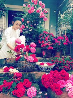 Dancer Yang Liping in a sea of flowers- China.org.cn