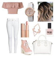 Bye bye Winter and hello Spring! by iveeeta on Polyvore featuring polyvore, fashion, style, Miss Selfridge, Givenchy, Akribos XXIV, RGB Cosmetics and clothing