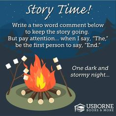 Make some noise Monday...  Hey, let's have some fun! Who's going to start the story? Don't be shy!   One dark and stormy night...