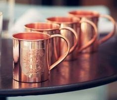 Copper Mugs. Keep those drinks cold!