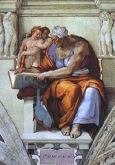 Michelangelo (Buonarroti) - Cumaeische Sibylle (Ausschnitt Sixtinische Kapelle)