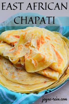 Easy East African Chapati recipe that's made without yeast or baking powder. You'll love how soft and pliable this chapati is, making it perfect to use as a wrap or to dunk into sauces. The possibilities are endless! African Chapati Recipe, Soft Chapati Recipe, Chapati Recipes, Roti Recipe Easy, Bread Recipes, How To Make Tortillas, How To Make Bread, Cooking Without Oil, Ghee Butter