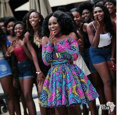 classy-ankara-styles-nigerian-wedding-cover-full-pleated-off-shoulder-long-sleeves-skater-dress