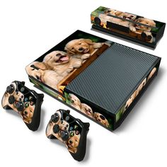 Now available at our store!  http://www.hellodefiance.com/products/golden-retrievers-skin-sticker-for-xbox-one-1?utm_campaign=social_autopilot&utm_source=pin&utm_medium=pin