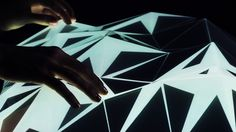 Light Form - Interactive landscape by Mathieu Rivier (ECAL) #touchscreen #openframeworks