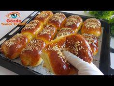 (Ειδική συνταγή για 500 χιλιάδες συνδρομητές) Όπως υποσχέθηκα! Μοιράζομαι την αγαπημένη μου συνταγή. - YouTube Bread Bun, Turkish Delight, Turkish Recipes, Special Recipes, Brunch, Pretzel Bites, Hot Dog Buns, Biscotti, Bread Recipes
