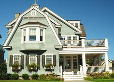 Beautiful Beach House with Gorgeous Exterior Paint Color !  by J G Popper Custom Builder LLC