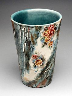 Luba Sharapan Pint Glass at MudFire Gallery