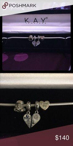 Kay Jewelers Star Wars Bracelet Beautiful, like new bracelets with four (4) Star Wars charms. Kay Jewelers Accessories