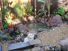 Outdoor Water Features: a target=_blank href=http://www.diynetwork.com/yard-crashers/tropical-pond-oasis/index.htmlFind air times for this episode/a or a target=_blank href=http://www.diynetwork.com/diy-yard-crashers-episode/videos/index.htmlwatch Yard Crashers online/a From DIYnetwork.com
