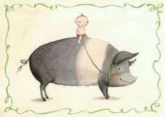 pig with child illustration by Sophie Blackall