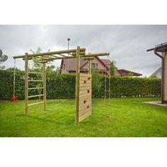 Kinder-Klettergerüst Classic 360x120x230 cm aus Holz