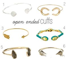 Sweetie Pie Style: Sweet Picks: Open Ended Cuffs A must-have for your #armparty !