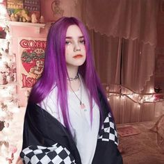 Mode Grunge, Lilac Hair, Hair Reference, Aesthetic Hair, Dye My Hair, Synthetic Lace Front Wigs, Bad Hair, Ulzzang Girl, Cute Hairstyles