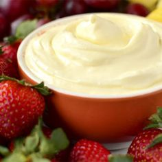 The Best Fruit Dip Ever is made from just 3 simple ingredients. This gluten-free fruit dip recipe will be a hit at your next holiday gathering, party or potluck! All You Need Is, Pesto, Free Fruit, Brunch, Gluten Free Recipes For Dinner, Best Fruits, Healthy Fruits, Dip Recipes, Fruit Recipes