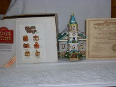 Lefton Colonial Village Church of Golden Rule #05820 with Deed and Box - 1986