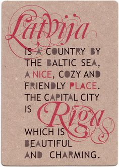 "Postcard ""Latvia"". From www.niceplace.lv"