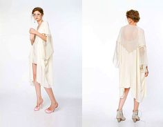 ZOETWITT neutrals. Italian wool and silk jersey with silk and leather detail...