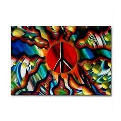Peace Sun 2 Rectangle Magnet > The Peace Sun > Flawn Ocho
