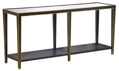 christine console  console table with hardwood frame and antiqued mirror top