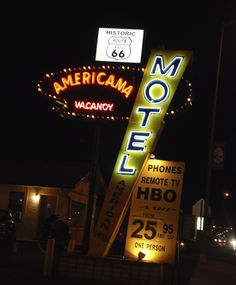 """"""" Americana Motel """" in Tucumcari New Mexico   """" Route 66 on My Mind """" http://route66jp.info Route 66 blog ; http://2441.blog54.fc2.com https://www.facebook.com/groups/529713950495809/"""
