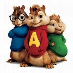 alvin simon & theodore from   alvin and the chipmunks 1 2 & 3