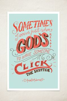 Click the Shutter Wall Print - Ansel Adams quote