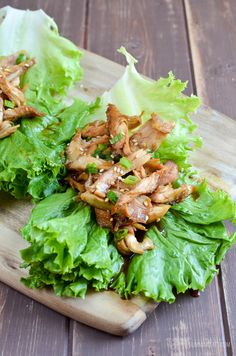 Feast your eyes on these Honey Garlic Chicken Lettuce Wraps - A perfect quick and healthy dish for lunch or dinner,