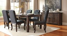 Trudell Rectangular Dining Set W/ Upholstered Chairs Signature Design | Furniture Cart