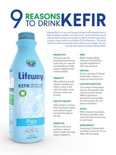 Lifeway kefir is a tart and tangy cultured dairy that contains live and active probiotic cultures – beneficial bacteria and enzymes.