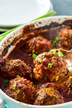 Old-Fashioned Porcupine Meatballs in tomato sauce make a delicious and economical family meal. Serve as is or over rice or mashed potatoes for a filling dinner. Beef Recipes For Dinner, Cooking Recipes, Bacon Muffins, Porcupine Meatballs, Meatballs And Rice, Meatball Recipes, Hamburger Recipes, Riced Veggies, Retro Recipes