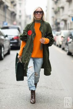 Celine Aagaard during Milan Fashion Week A/W 2016