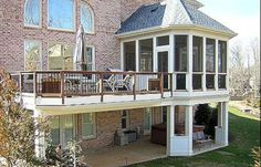 Building A Deck 428616089537045267 - Wonderful Screened In Porch and Deck: 119 Best Design Ideas Source by leahcarking Second Story Deck, Two Story Deck Ideas, Porch Kits, Porch Ideas, Screened In Deck, Screened Porches, Front Porch, Patio Deck Designs, Patio Design