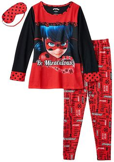 Miraculous Ladybug Toys, Miraculous Ladybug Wallpaper, Girl Unicorn Costume, Ladybug Girl, Girls Pajamas, Girls 4, Big Kids, Pajama Set, Clothes