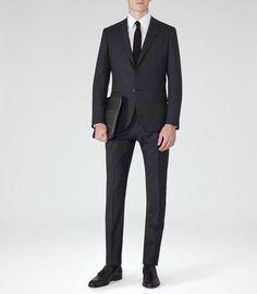 ba211cd5d Reiss Miller CONTRAST CHECK SUIT Checked Suit, Contrast, Mens Suits,  Clothes, Reiss