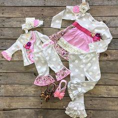 """Haute Baby Tres Jolie Set- $54.99 0-3mo,3-6mo,6-9mo  Tunic Set- $72.99 18mo, 24mo, 2T, 3T, 4T  Headband- $24.99  Mooshu trainers- $34.99 (Bronze) 4&7 (Pink Sparkle) 4-7  #love #instafashion #babyfashion #shoplocal #shopdcs #HauteBaby  #Mooshu"" Photo taken by @daviscountrystore on Instagram, pinned via the InstaPin iOS App! http://www.instapinapp.com (08/31/2015)"