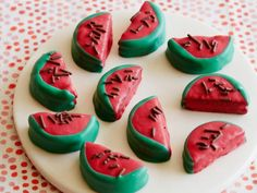 Get Oreo Watermelons Recipe from Food Network