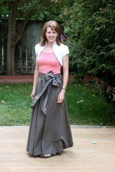 Make a Maxi Skirt from a Bed Sheet