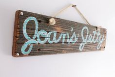 Personalized Beach Sign on Reclaimed Distressed Wood Beach Art Wooden Surf Sign Coastal Beach Surf Baby Nursery Beach Themed Kids Room on Etsy, $45.00