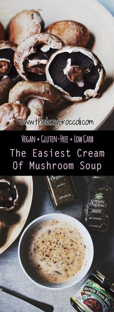 Vegan and gluten free cream of mushroom soup