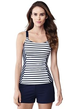 Women's+Beach+Living+Scoop+Tankini+Top+from+Lands'+End