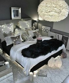 """8 Teen Bedroom Theme Ideas That's So Great! - Hoomble,Teens have unique ideas of what they consider as """"cool bedrooms."""" Teen bedroom themes reflect things such as their personalities, aspirations, and ide. Gray Bedroom, Bedroom Inspo, Modern Bedroom, Bedroom Inspiration, Black Bedroom Decor, Design Bedroom, Bedroom Rustic, Decor Room, Master Bedrooms"""