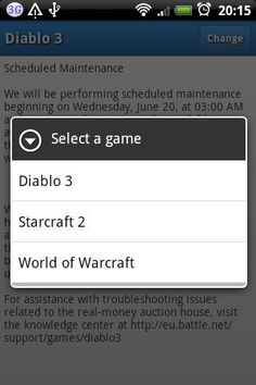 This unofficial tool displays the contents of the breaking news box visible on the login screen of various Blizzard games (including Diablo 3, Starcraft 2 and World of Warcraft), so you can check the most important events (maintenances, temporary disabled features, etc.) without actually launching the game.<p>Disclaimer<br>========<p>This application is not affiliated, endorsed, or written by Blizzard Entertainment.<p>Battle.net®, Diablo®, Starcraft®, World of Warcraft®, Warcraft® and…