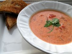 Creamy Tomato Soup | OAMC from Once A Month Mom