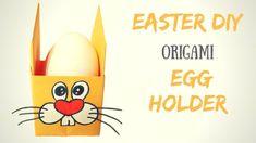 Поделки к Пасхе - как сделать оригами подставку под пасхальное яйцо из б...